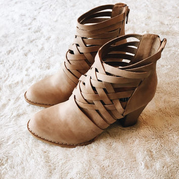 A Strappy Cutout Bootie