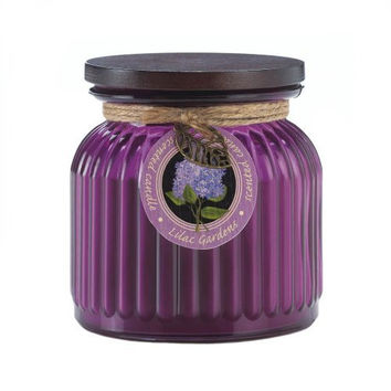 Lilac Gardens Ribbed Jar Candle