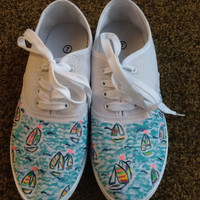 """Hand Painted Lilly Pulitzer Inspired Shoes """"You Gotta Regatta"""""""