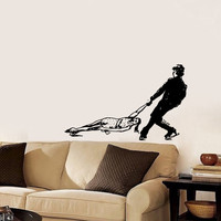 Vinyl Decal Sport Figure Skating Skaters Man And Woman Dancing On Ice Home Wall Decor Stylish Sticker Mural Unique Design for Any Room V777