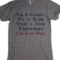I'm Iron Man-Unisex Athletic Grey T-Shirt