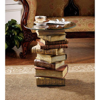 Park Avenue Collection Power Of Books Side Table