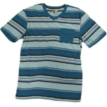 1897 Striped V-Neck Pocket Tee for Men KV43012M