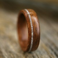 Santos Rosewood Bentwood Ring with Offset Mother by stoutwoodworks