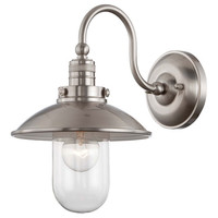 Minka-Lavery 71162-84 Downtown Edison Brushed Nickel One Light Wall Sconce