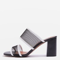 NETTLE Mesh Block Heels - Sandals - Shoes