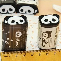 1piece Cartoon Panda Style Eraser Rubber For School Student Stationery Supply