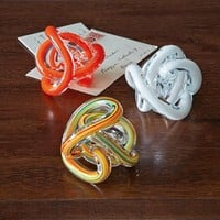 Glass Knot Paperweight
