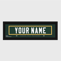 Personalized NFL Stitched Letter Art Print & Frame - Packers