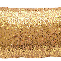 "Gold Sequin Lumbar Pillow Cover, 11""x19"" - Contemporary - Decorative Pillows - by TwentyEight12"
