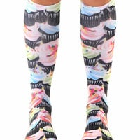Cupcake Craze Knee High Socks