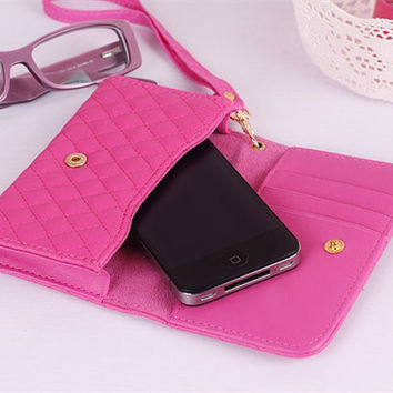 handmade leather iphone 5 case iphone 4 case iphone 4s case   case cover black red blue Pale pink Deep pink brown white