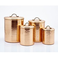 Hammered Copper Canister Collection