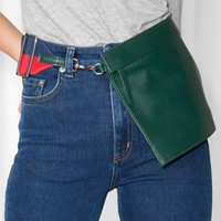 & Other Stories   Leather Bag   Green
