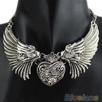 Hot Rhinestone Angel Wings Collar Chain Necklaces Women Dresses, Dress, Top Necklace = 1946675652