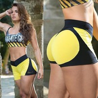 2018 Fashion Sexy Hit Color Stitching Shorts