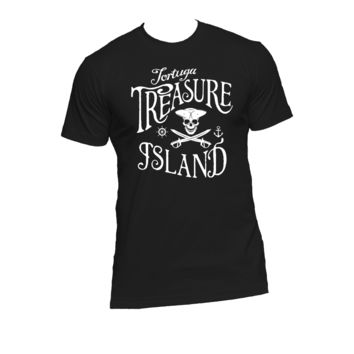 Treasure Island,Tortuga Ladies or Mens T Shirt,Robert Louis Stevenson,Nerd Girl Tees, Geek