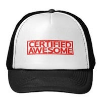 Certified Awesome Stamp Trucker Hat