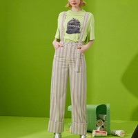Stripe Shapeless Overall