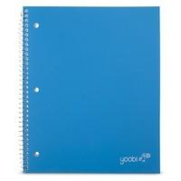 Yoobi Poly Cover College Rule 1 Subject Notebook - Blue