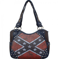 Vintage Rebel Flag Purse