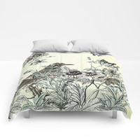 The thrush and a promise of Spring Comforters by anipani