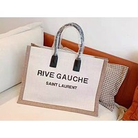 YSL fashion hot selling lady's canvas monogram shoulder bag casual shopping bag