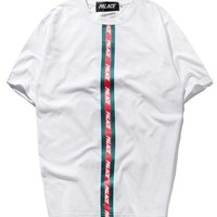Palace Short Sleeve Double Color Couple T-shirts [419618324516]