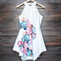 Final Sale - Floral Fit and Flare Open Back Dress