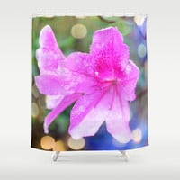 pretty purple garden flowers. nature is beautiful. floral photo art. Shower Curtain by NatureMatters