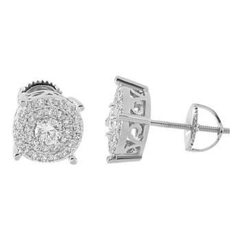 Prong Set Earrings Solitaire Studs Screw Back