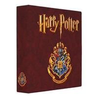 Hogwarts Crest Full Color 3 Ring Binders from Zazzle.com