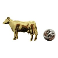 Cow Pin ~ 24K Gold ~ Lapel Pin