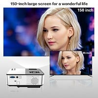 CRENOVA 2019 Newest Android Projector 1280*720P Support 4K Videos Via HDMI Home