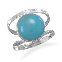 Turquoise Open Band Style Ring