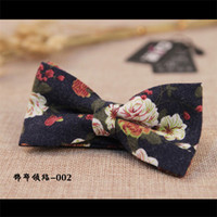 Fashion Gentlemen Tuxedo Floral Printed Bowtie Wedding Party Cotton Bowtie Men's Skinny Bow Ties Gravatas Slim Cravat Tie