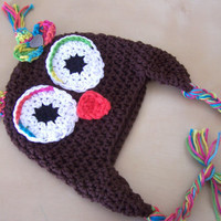cute baby clothes, baby girl owl hat, winter baby clothing