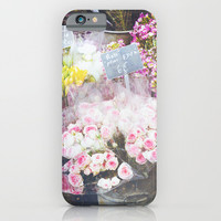 French Flowers iPhone & iPod Case by Pati Designs