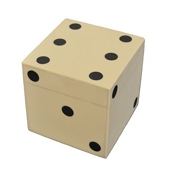 Large Bone Dice Box