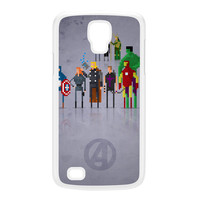 8Bit - Marvel Avengers Movie White Hard Plastic Case for Galaxy S4 Active by DevilleArt