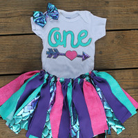 First birthday Mermaid outfit - Pink And Purple Mermaid - Mermaid birthday set - Cake smash set - Mermaid Tail Outfit - Mermaid party dress