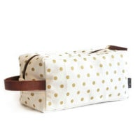 Metallic Gold Dots Travel Case