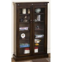 Sunny Designs Santa Fe CD/ DVD Cabinet In Dark Chocolate