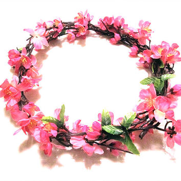 pink medium flower crown