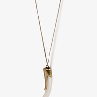 Faux Ivory Tusk Necklace | FOREVER 21 - 1024448478