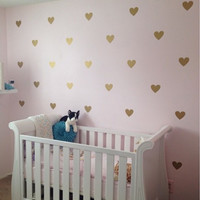 60PCS SET  Heart pattern cute home decoration Wall Sticker Removable  Waterproof  PVC No Pollution material for kids room decal