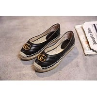 Gucci Women Casual Shoes Boots fashionable casual leather01