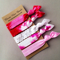 The Bethany Hair Tie-Ponytail Holder Collection - 5 Elastic Hair Ties by Elastic Hair Bandz on Etsy