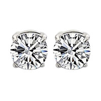 1Pair Stylish Unisex   Clear Crystal Magnet Earring Earrings Stud