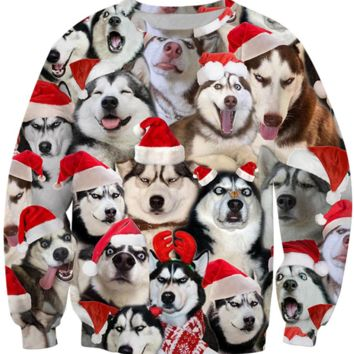 Funny Christmas Dog Long Sleeve Guard [4165967347748]